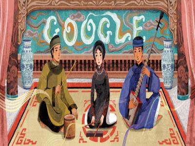 Google thay biểu tượng mới, tôn vinh ca trù Việt Nam