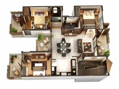 Tham khảo các mẫu thiết kế nội thất căn hộ 3 phòng ngủ tiện nghi