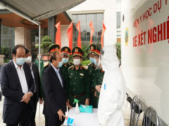 Chùm ảnh: Quân đội trên tuyến đầu phòng chống dịch bện