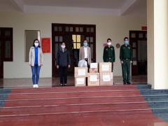 Trao tặng vật phẩm phòng chống dịch bệnh Covid-19 cho Bộ đội Biên phòng tỉnh Lai Châu