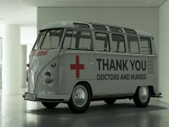 Chiếc xe buýt Volkswagen Samba này là một lời cảm ơn các bác sĩ và y tá trong cuộc chiến chống COVID-19