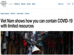 Quốc tế đánh giá Việt Nam phòng chống đại dịch COVID-19 hiệu quả