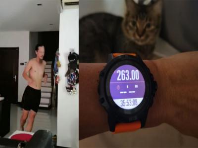 Runner Malaysia chạy 263 kilomet trong nhà