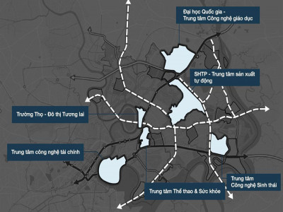TP.HCM: Đề xuất điều chỉnh quy hoạch 3 khu vực ở Khu đô thị sáng tạo phía Đông