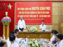 Thủ tướng: Đưa Bắc Giang vào nhóm dẫn đầu cả nước về tăng trưởng