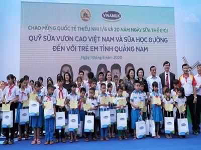 34.000 trẻ em Quảng Nam đón nhận niềm vui uống sữa từ Vinamilk