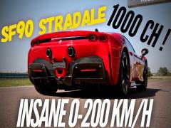 Chứng kiến siêu xe hybridFerrari SF90 Stradale gia tốc từ 0-200 km/h trong chưa tới 6,5 giây