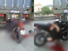Hải Dương: Nam công nhân điều khiển mô tô Yamaha R15 tông vào đuôi xe đầu kéo, tử vong