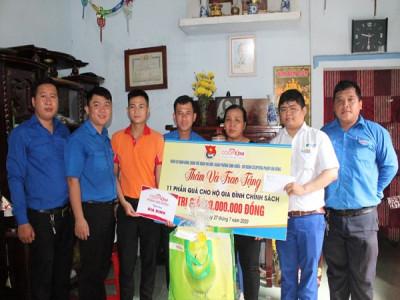 Đoàn cơ quan quận Thủ Đức kết hợp cùng chi đoàn Co.opXtra Linh Trung tổ chức hoạt động đền ơn đáp nghĩa