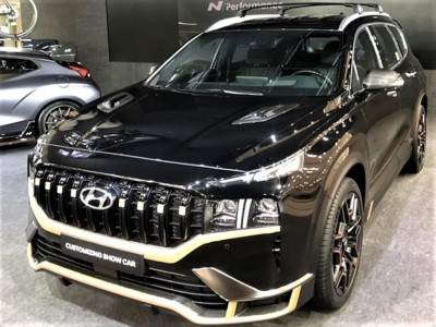 Hyundai Santa Fe 2021 phiên bản thể thao N Performance Kit bất ngờ được trưng bày