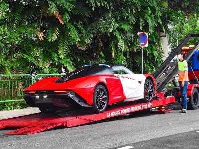 Siêu phẩm McLaren Speedtail bí mật đến Singapore, giá ước tính hơn 152 tỷ đồng