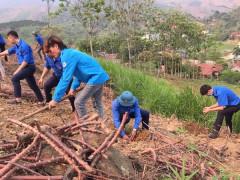 Huyện đoàn Phù Yên tổ chức các đội trí thức trẻ tình nguyện xây dựng nông thôn mới