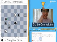 Lê Quang Liêm đánh bại kỳ thủ số 2 thế giới, tiến vào bán kết giải Banter Series