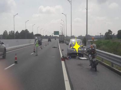 Thay lốp cho ô tô trên cao tốc Hạ Long - Hải Phòng, người đàn ông bị xe tải tông tử vong