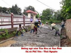 Phổ Yên hoàn thành vượt mức trong xây dựng nông thôn mới  nhờ phát huy sức mạnh của lòng dân