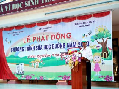 Tỉnh Hà Nam phát động Chương trình Sữa học đường năm học 2020 - 2021