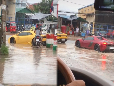 Xem cặp đôi siêu xe đắt đỏ của đại gia Campuchia