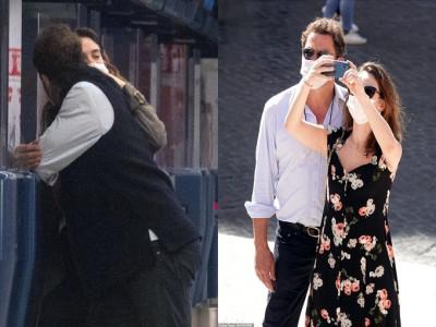 Lily James bị bắt gặp hôn Dominic West