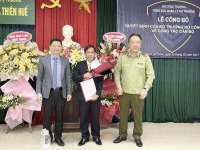 Ông Phan Hùng Sơn giữ chức Cục trưởng Cục Quản lý thị trường tỉnh Thừa Thiên Huế