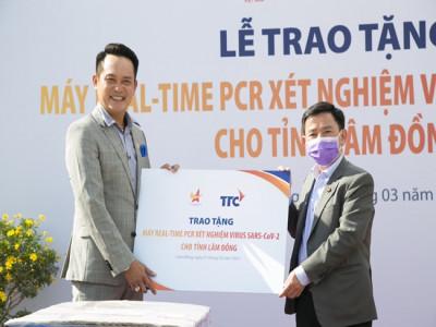 Hội DNT Việt Nam và Tập đoàn TTC trao tặng máy Real - Time PCR xét nghiệm virus sar-cov -2 cho tỉnh Lâm Đồng