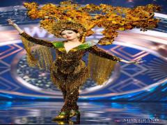 Á hậu Ngọc Thảo tỏa sáng ở phần thi trang phục dân tộc