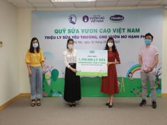 1,7 triệu hộp sữa sẽ được Vinamilk gửi tới trẻ em khó khăn thông qua Quỹ sữa Vươn cao Việt Nam
