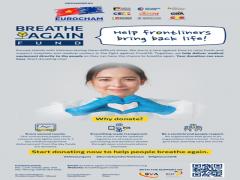 """EuroCham phát động chiến dịch """"Hồi sinh nhịp thở - Breathe Again"""" ủng hộ trang thiết bị y tế thiết yếu cho Việt Nam"""