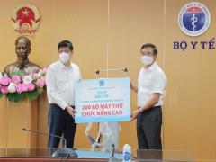 Petrovietnam trao tặng 200 máy thở phục vụ điều trị bệnh nhân Covid-19 nặng
