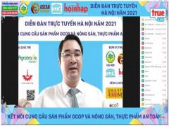 Diễn đàn trực tuyến Hà Nội 2021- Kết nối cung cầu sản phẩm OCOP và Nông sản, thực phẩm an toàn