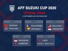 ĐT Việt Nam không cùng bảng ĐT Thái Lan tại AFF Cup 2020