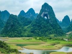 """Chiêm ngưỡng núi """"Mắt Thần"""" độc nhất vô nhị của Việt Nam ở Cao Bằng"""
