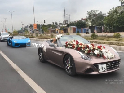 Cặp đôi siêu xe mui trần cực đỉnh tham dự lễ đính hôn tại Hải Phòng