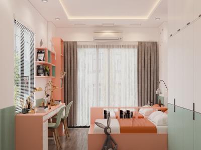 Nhà phố 4 tầng của gia đình trẻ có hai bé gái ở Hà Nội