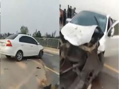 Quảng Trị: Trốn chốt kiểm tra nồng độ cồn, tài xế ô tô tông 4 học sinh trên cầu, 2 em rơi xuống sông