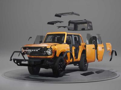 Theo dõi kỹ sư Ford dễ dàng tháo rời từng phần ngoại thất của Bronco 2021