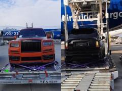 Cặp đôi Rolls-Royce Cullinan độ Mansory xuất hiện ở sân bay tại Bỉ thu hút sự chú ý của giới mê xe Maroc