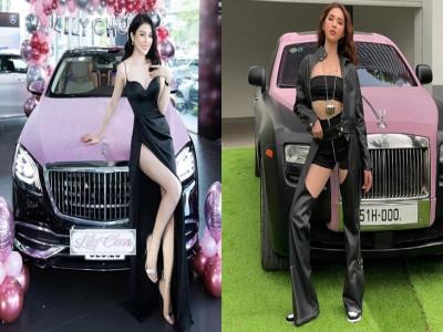 Tậu xe siêu sang khác nhau nhưng Lily Chen và Ngọc Trinh lại đụng hàng chi tiết này, kẻ đến sau nhanh chóng