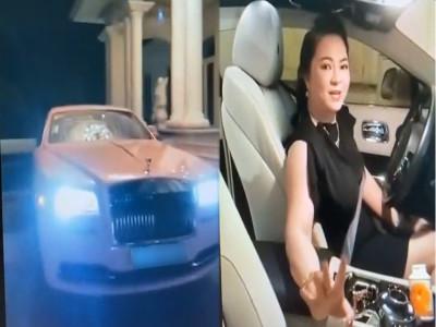 Doanh nhân Nguyễn Phương Hằng lần đầu live stream trên chiếc xe đắt đỏ Rolls-Royce với bộ áo