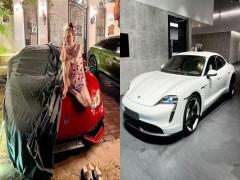 Tặng chồng siêu xe Lamborghini, vợ nhận lại quà 20/10 là xe điện Porsche Taycan có giá 8,5 tỷ đồng