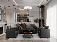 Ấn tượng căn hộ 90m2 có phòng thay đồ kết hợp thư giãn