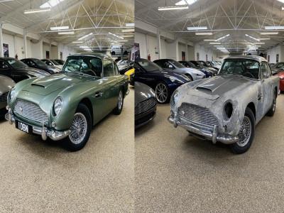Nhờ thời gian phong tỏa vì đại dịch, chiếc Aston Martin DB5 1964 này đã được phục chế như mới